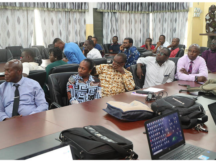 Participants listening to address by the Guest Speakers