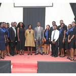 Law Students with the Speakers and Vice-Chancellor